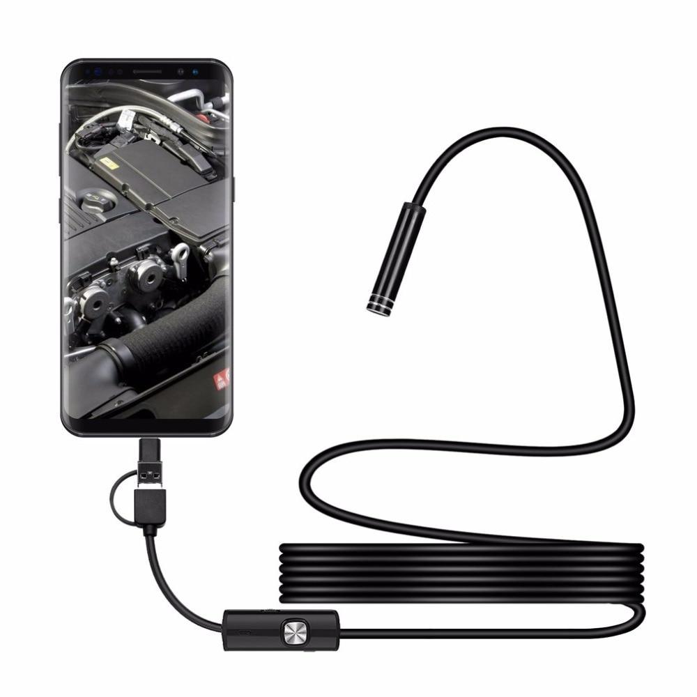 5.5mm/7mm Lens Android PC USB/Micro USB/Type-C Endoscope Camera Led Light Waterproof 1m/2m/3.5m/5m Snake Cable Endoscope5.5mm/7mm Lens Android PC USB/Micro USB/Type-C Endoscope Camera Led Light Waterproof 1m/2m/3.5m/5m Snake Cable Endoscope