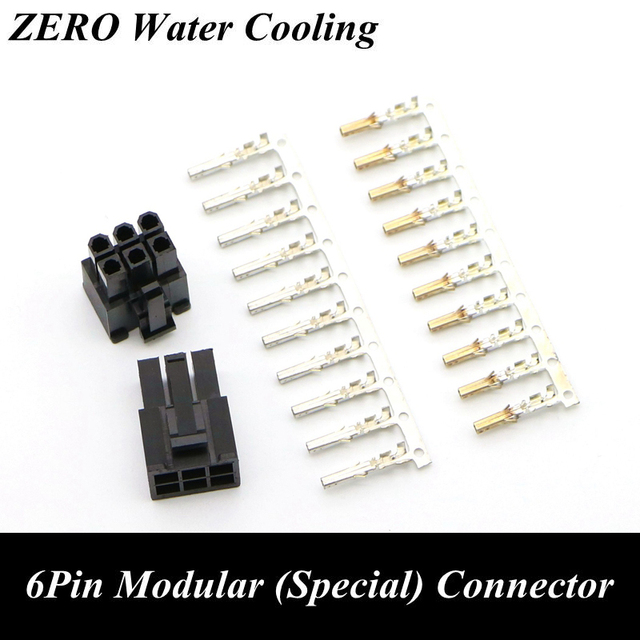 PSU Modular Power Supply 6Pin Connector with 6pcs Terminal pins for ...