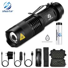 Portable Mini Glare LED Flashlight 5 Lighting modes Led torch Bicycle light camping light Used for camping adventure riding, etc