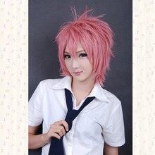 Cosplay Wig 30cm Ao no Blue Exorcist Naz Pink Cosplay The Wig Heat Resistant Kanekalon Hair Shima Renzou Wigs + Wig Cap цены онлайн