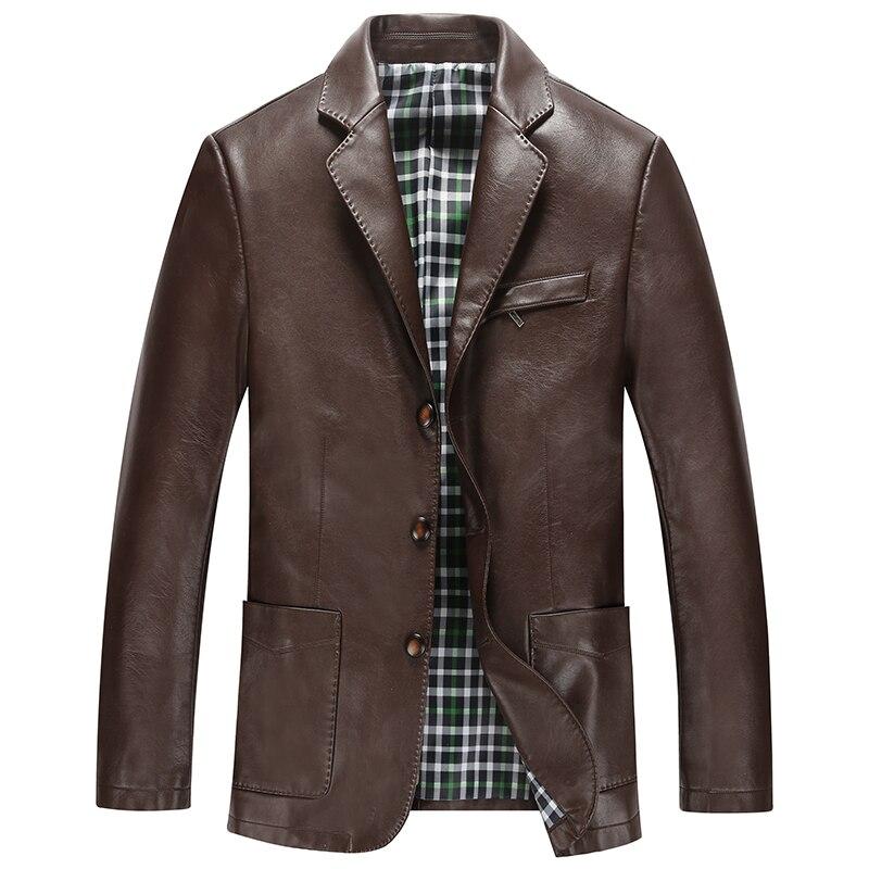 Free Shipping!the New 2015 Men Winter Jacket High-grade Leather Mens Suit Men Sheepskin Coat Men Leather Jacket M-xxxl