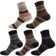 10 пар/лот осень и зима новые ретро Национальный Ветер мягкие и удобные мужские носки мужские двухсторонние шерстяные носки оптом