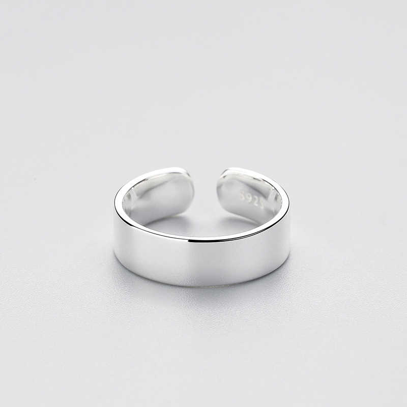 INZATT Permukaan Halus Cincin Gaya Minimalis Untuk Charm Wanita Partai Kualitas Tinggi Nyata 925 Sterling Silver Fine Jewelry Brincos