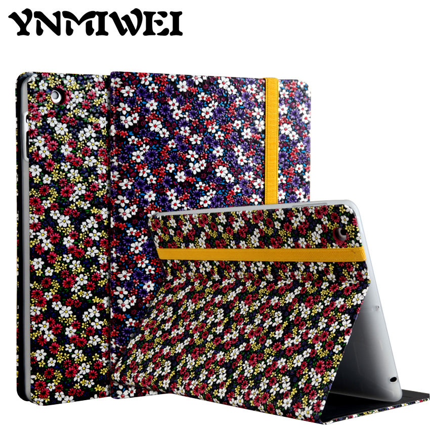 For ipad 2 3 4 Flower Print 9 7 inch Tablet PU Leather Case Cover Shockproof