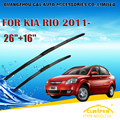 "Escovas Para KIA RIO (2011-) 2012 2013 2014 2015 Car Windscreen Windshield Wiper Wiper Blade 26 ""+ 16"" carros styling acessórios"