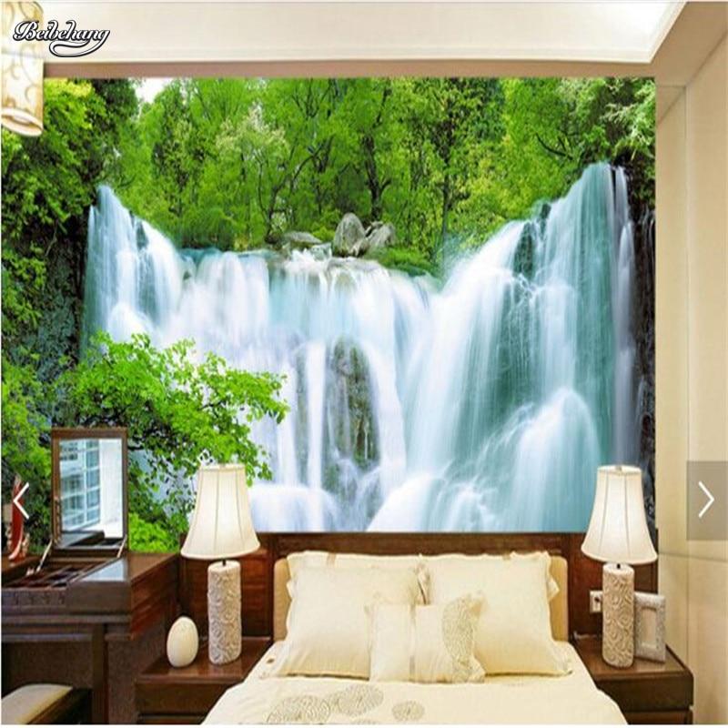 Купить с кэшбэком beibehang custom photo wall mural wallpaper Luxury Quality HD Water landscape  Falls Hotel large wall mural-3d papel de parede