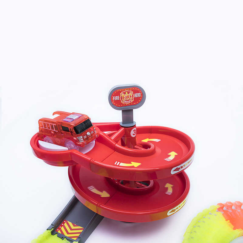 2018 Новые 240 шт./компл. светящийся гоночный трек поворотный стол гоночных треков изгиб Flex DIY Пластик трек в подарок мальчикам и девочкам, игрушки для детей