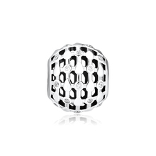 CKK Fits For Pandora Charms Bracelets Lace of Wish Charm 100% 925 Sterling-Silver-Jewelry