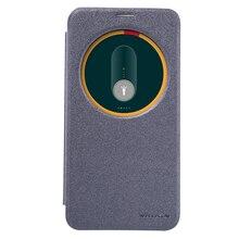 Nillkin флип Чехол Для Asus Zenfone 2 ZE551ML 5.5 inch Выдолбленные Окно Кожа + Матовый Чехол Для Asus Zenfone2 ZE551ML