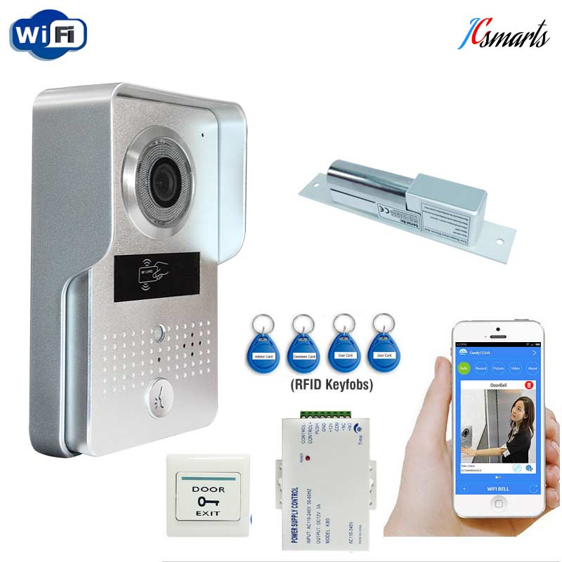 Wireless POE Wifi Doorbell Camera IOS Android Phone Remote View Unlock Metal RFID Door Intercom