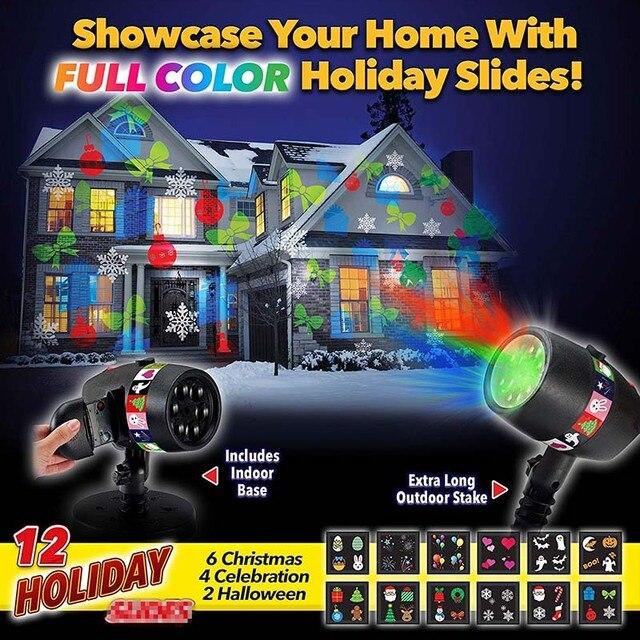 new slide show shower includes 12 full color slides for laser night