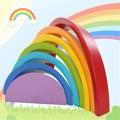 Деревянный Радуга Buliding Блоки Красочные Дети детские Развивающие Игрушки Играть Набор Детей Игрушки Brinquedos Пользу Поставок