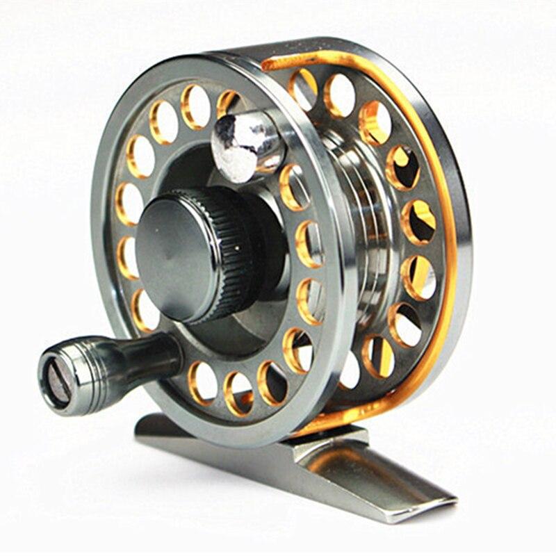 Ultra Light Aluminum Alloy Trolling Mini Ice Fishing Reel Super Brake Force 10Kg Saltwater Fly Fishing Reel Disc Brake System