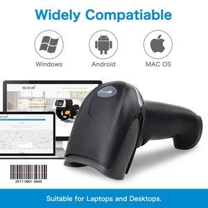 Портативный USB сканер штрих-кода NETUM RD-2013 проводной лазерный 1D считыватель штрих-кодов для POS и инвентаризации