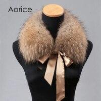 Aorice CLR009 le nouveau femmes col de fourrure Véritable Hiver Fourrure De Raton Laveur Écharpe Foulards Wrap-Cou Col Châle