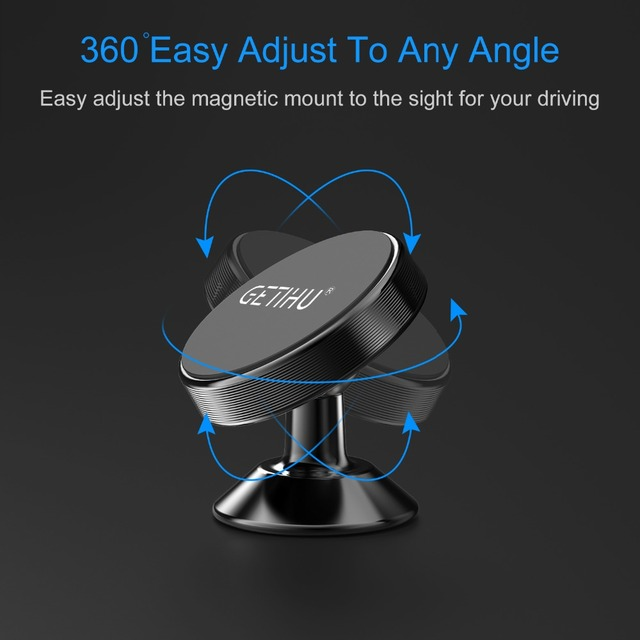 GETIHU Universal Magnetic Car Phone Holder Stand in Car For iPhone X Samsung Magnet Air Vent Mount Cell Mobile Phone Support GPS 2