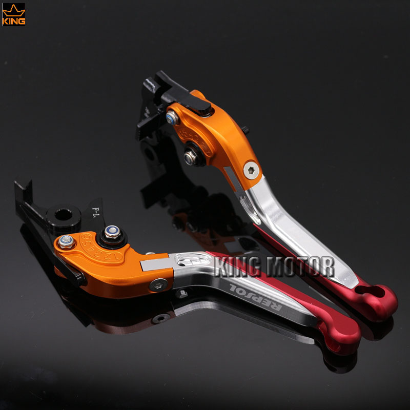 ФОТО For Honda CB600F CBR600F Motorcycle Accessories Adjustable Folding Extendable Brake Clutch Levers LOGO REPSOL