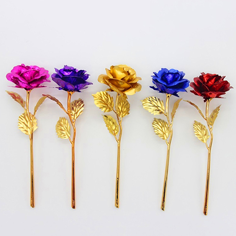 Flowers For Wedding Gift: Xmas Birthday Wedding Gift Gold Plated Rose Lover's Flower