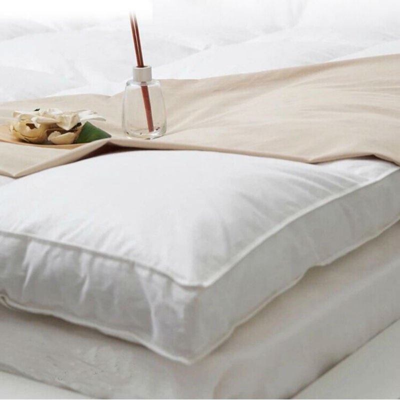 Peter Khanun White Duck Feather Bed Mattress 100% Cotton Shell 233TC Single Layer Mattress Five Stars Hotel Style 5cm Height 017