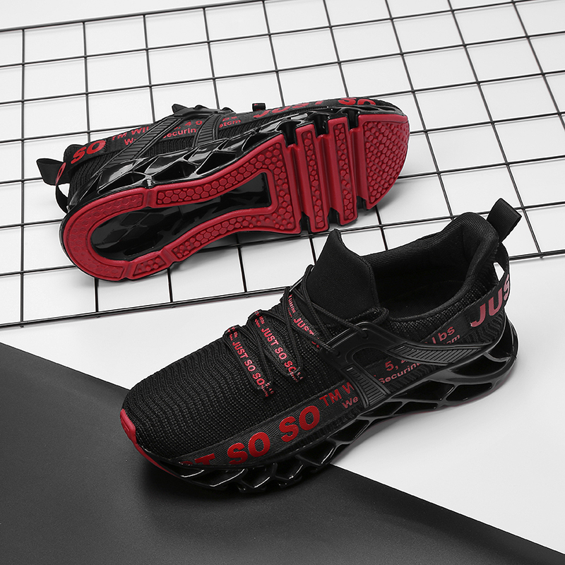 Blade Running Shoes For Men Breathable Mesh Socks Sneakers Antiskid Damping Outsole Athletic Sport Shoes Training Run Zapatills Running Shoes & sneakers cb5feb1b7314637725a2e7: Black Red|Black White|BLACK-GOLD-F|BLACK-RED-F|RED-GOLD-F|white black|WHITE-RED-F