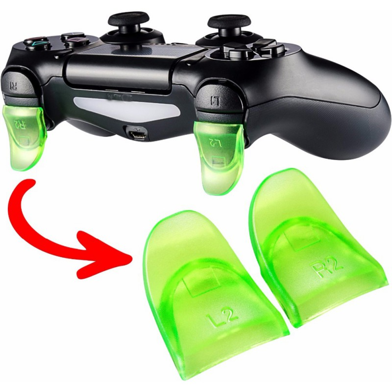 1 Pair / Set L2 R2 Trigger Extenders Buttons For Play Station 4  PS4 Slim Pro Controller Game Accessory