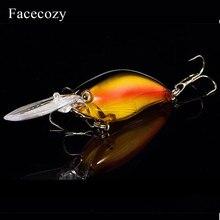 Facecozy Laser enduit lumineux leurre artificiel vairon appât nageur 1Pc 11cm leurres de pêche très réaliste manivelle deux crochets