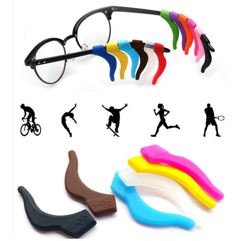 Silicone Anti Slip Ear Hook Eyeglasses Leg Grip Myopia Glasses Sports Fixed Grips Reading Glasses Sunglasses Accessories