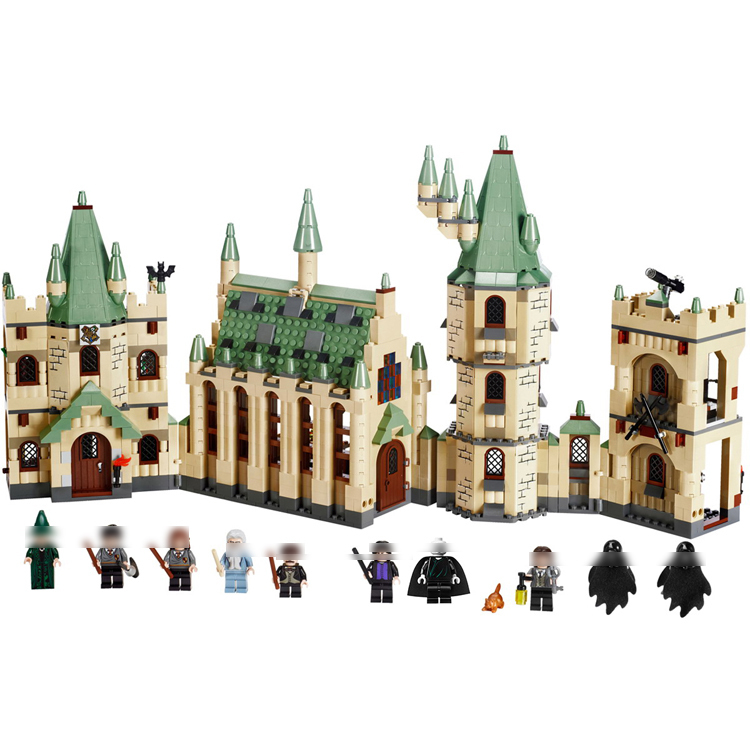 16030 1340Pcs Creative Movies The Hogwarts castle Set Compatible Legoe Building Blocks Bricks Toys Model 4842 for kids gifts lepin 16030 1340pcs movie series hogwarts city model building blocks bricks toys for children pirate caribbean gift