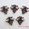 Bees sequins Rhinestones bead brooch patches applique vintage embroidered fabric sew on patch fashion clothing decoration patch