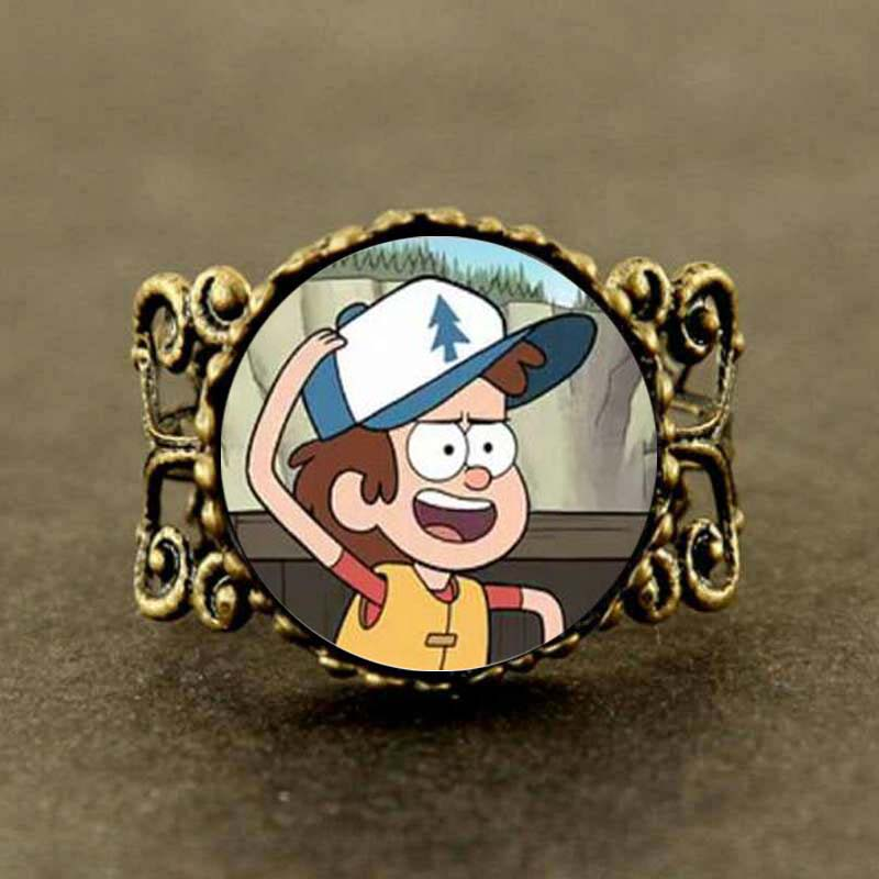 Jewelry & Accessories Drama Gravity Falls Mabel Pines Bill Cipher Wheel Steampunk Ring Dr Who 1pcs/lot Pig Happy Vintage Dipper Cap