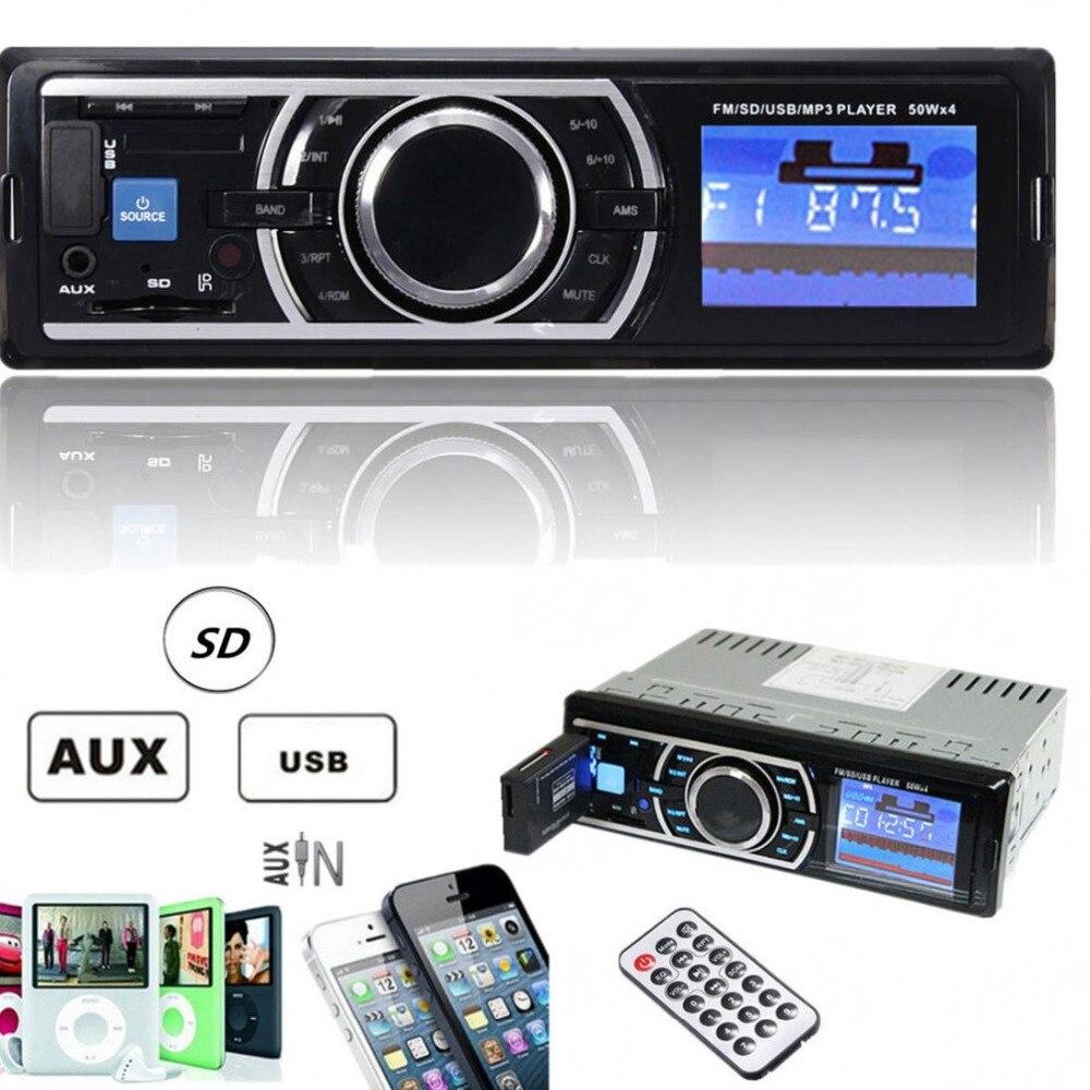REAKOSOUND 25 W x 4CH Auto Voiture Stéréo Audio En-Dash Entrée Aux Récepteur avec SD USB MP3 FM Radio Lecteur