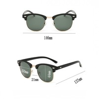 Luxury Vintage Semi-Rimless Sunglasses 4