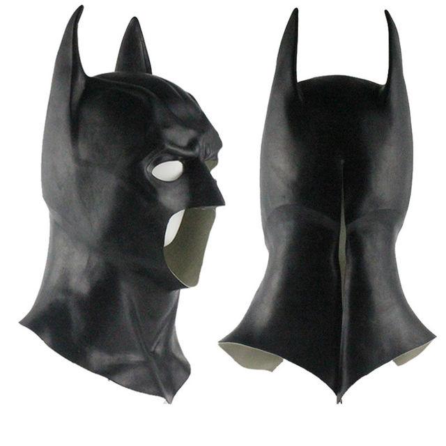 Realistic Halloween Full Face Latex Batman Mask Costume Superhero The Dark Knight Rises Movie Party Masks  sc 1 st  AliExpress.com & Realistic Halloween Full Face Latex Batman Mask Costume Superhero ...