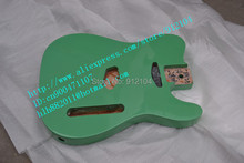 free shipping music instrument new alder electric guitar body in green+foam box F1633