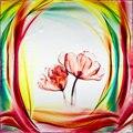 100% Шелковый Шарф Женщин Шарф Цветок Шейный Платок Шарф Шелковый Шарф 2017 Топ Платки Небольшой Площади Шелковый Шарф Горячие Люкс Леди подарок