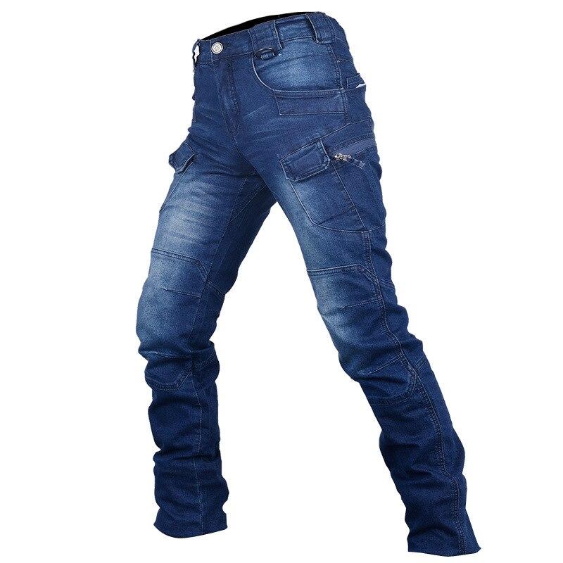 ФОТО IX7 Archon military tactics Denim fabric men's commuter Slim straight elastic waist Cargo pants male outdoor Camping trousers