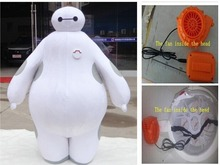 100% real images suit Big Hero 6 Baymax Mascot Costume Cartoon Adult Size Big Hero mascot EMS FAST Shipping