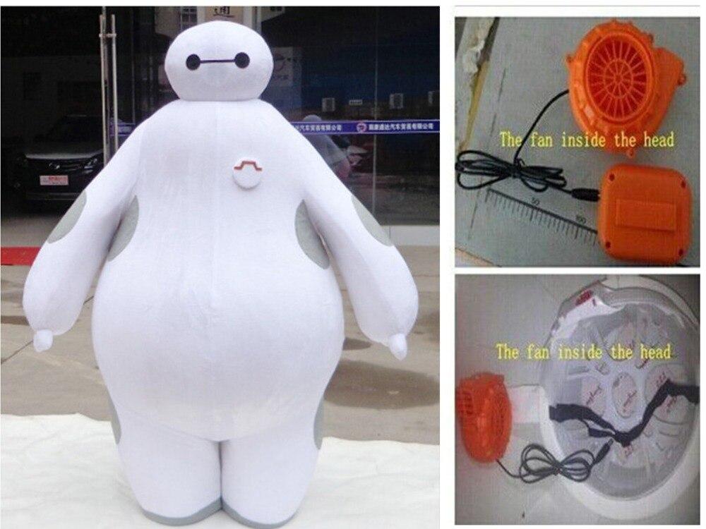 BING RUI CO 100% real images suit Big Hero 6 Baymax Mascot Costume Cartoon Adult Size Big Hero mascot EMS FAST Shipping