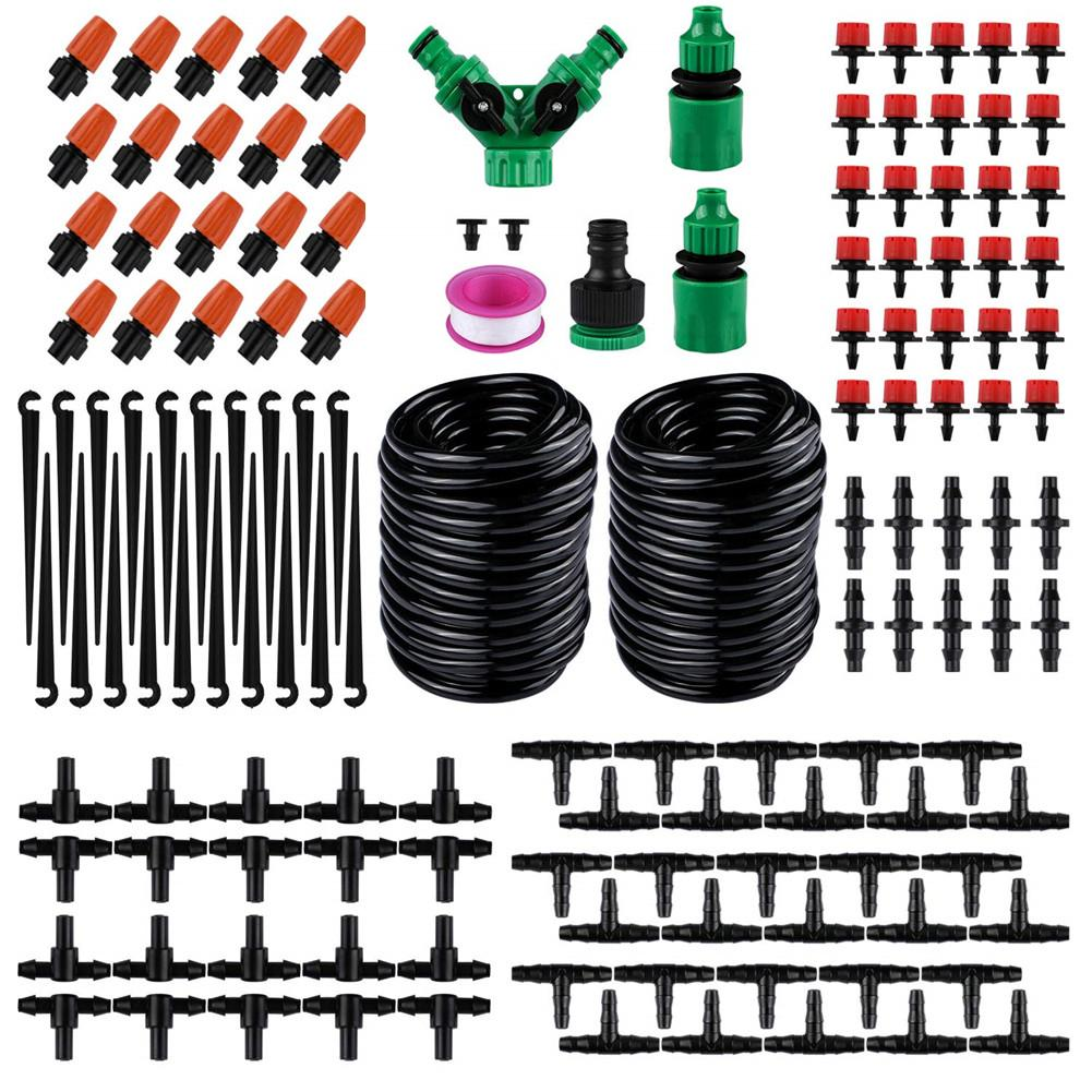 30M 98 42FT DIY Automatic Watering Device Adjustable Dripper Drip Irrigation Suit Flower Watering Garden Supplies Quick Delivery in Watering Kits from Home Garden