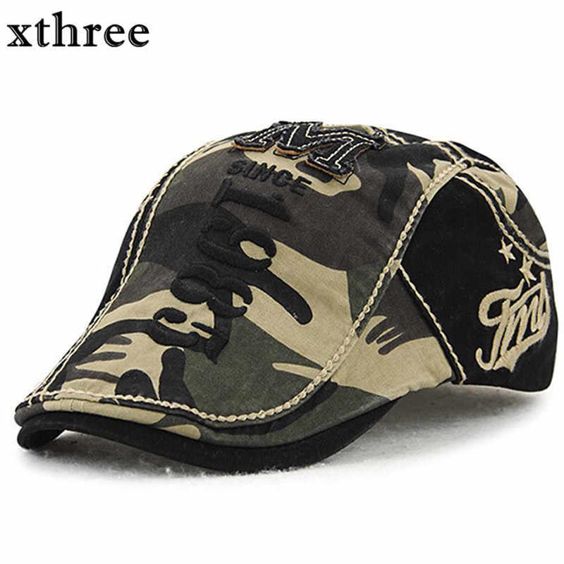 aa75a441e8d5e Gorra de visores de boina de camuflaje xthree para hombres y mujeres gorra  de sol Gorras