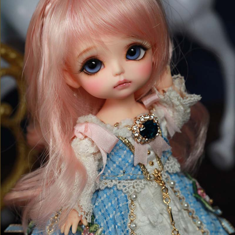 New Arrival 18 BJD Doll Fashion LOVELY Happy Resin Joint Doll With Eyes For Baby Girl Birthday Chrismas Gift