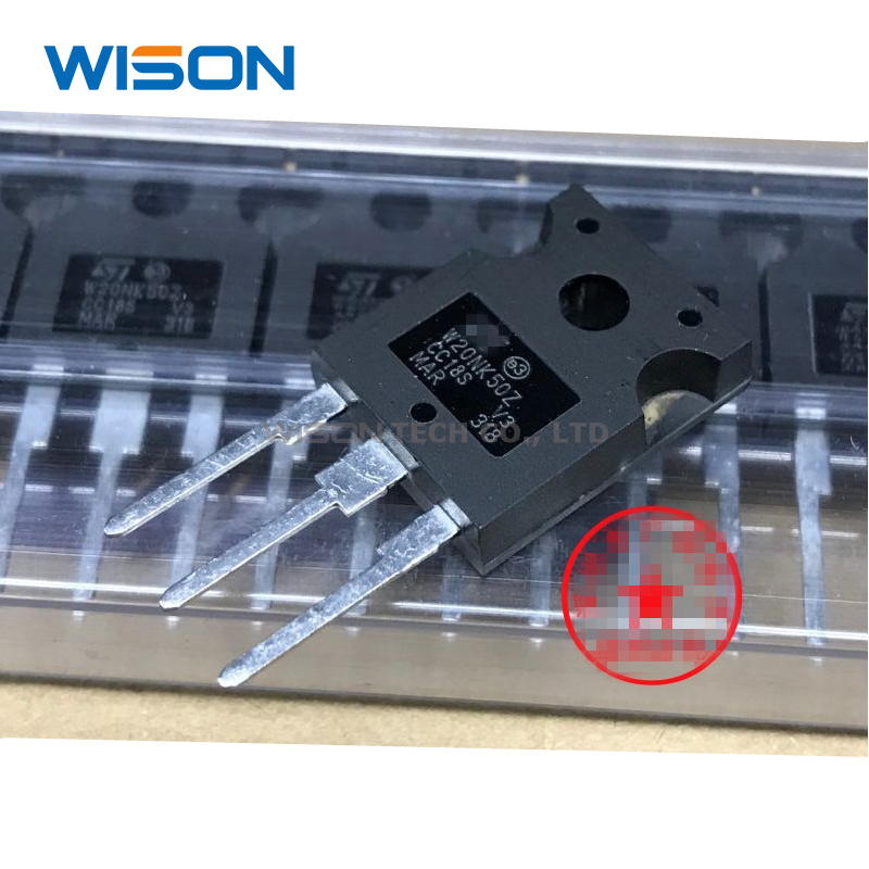 2pcs W20NK50Z W20NK50 ST 20A//500V TO-247 New