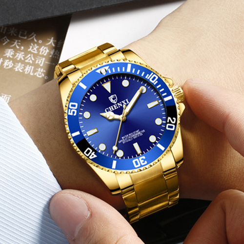CHENXI Gold Wrist Watch Men Watches Top Brand Luxury Famous New Golden Quartz Wristwatch For Male Clock Hours Relogio Masculino frank fabozzi j capital budgeting theory and practice