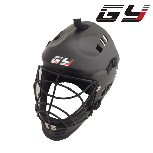 GY FREE SHIPPING EVA Floorball Mask Goalie helmet Mask Black Street Hockey Mask Face Shield goalie mask hockey goalie helmet for goalikeeper free shipping