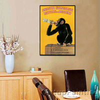 Oil Painting Monkey Camel Home Decoration For The Sitting Room Wall Poster Picture Printed On The