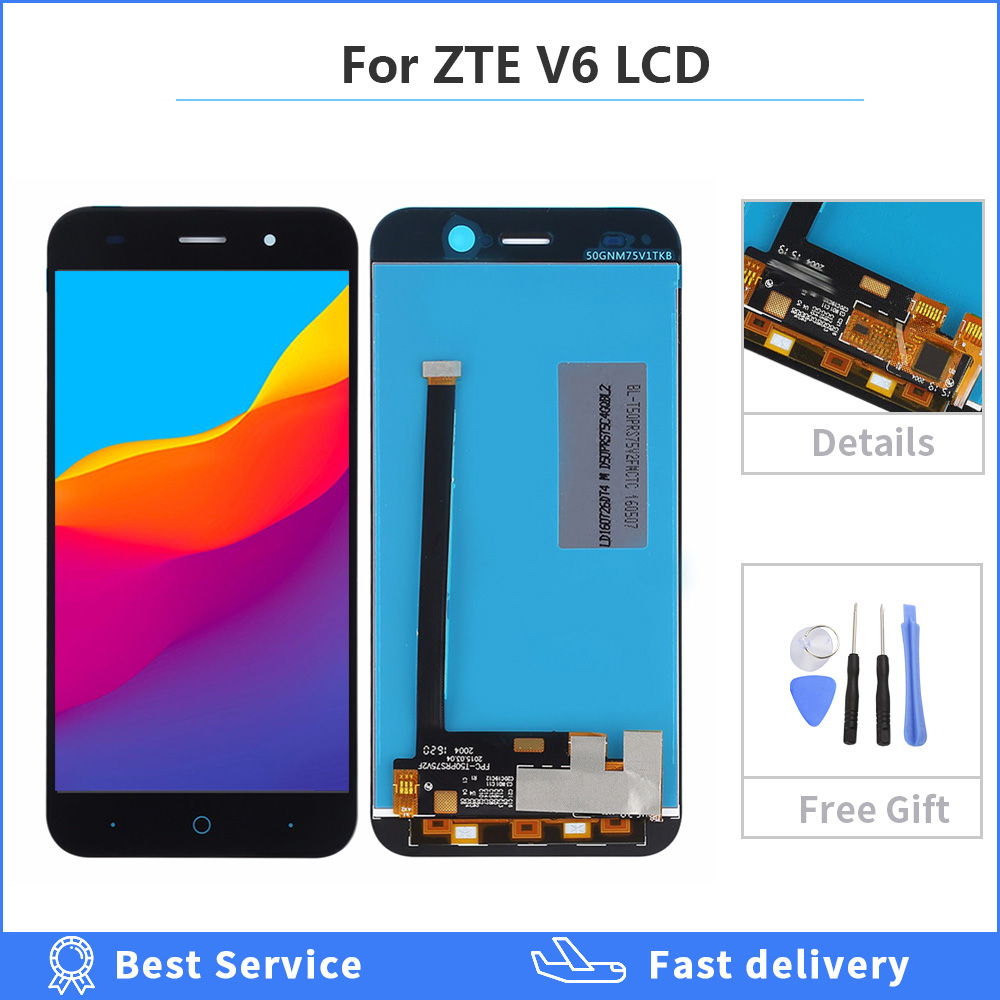 For ZTE Blade V6 X7 D6 Z7 T660 T663 LCD Display Touch Screen with Digitizer Panel Front Glass Assembly Replacement Parts 5.0inch image
