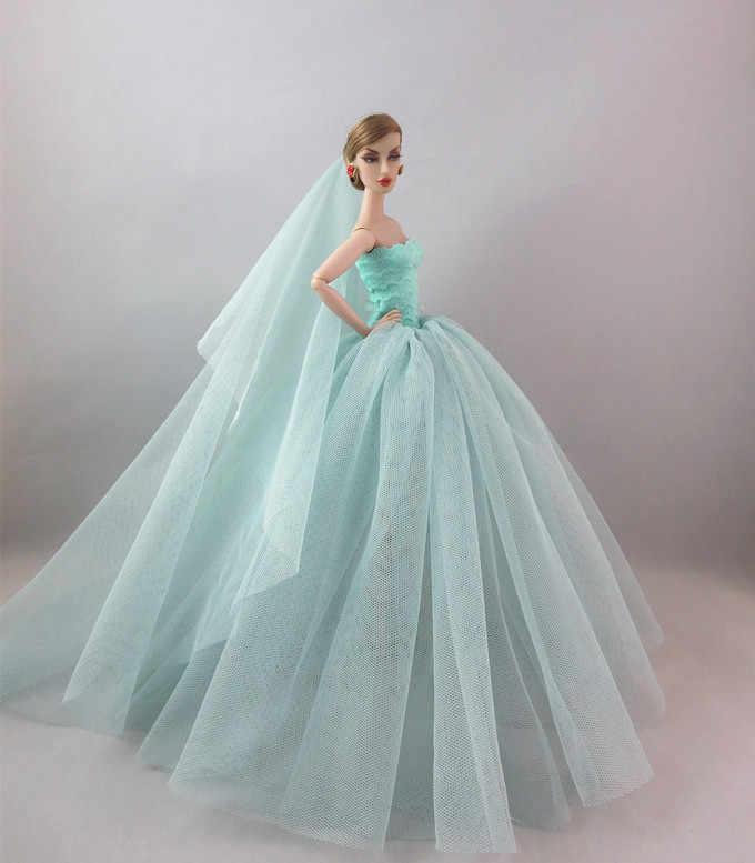 Специальное предложение; оригинальная Одежда для куклы Барби; свадебное платье; многослойное платье русалки; платье принцессы; Многослойная юбка-пачка