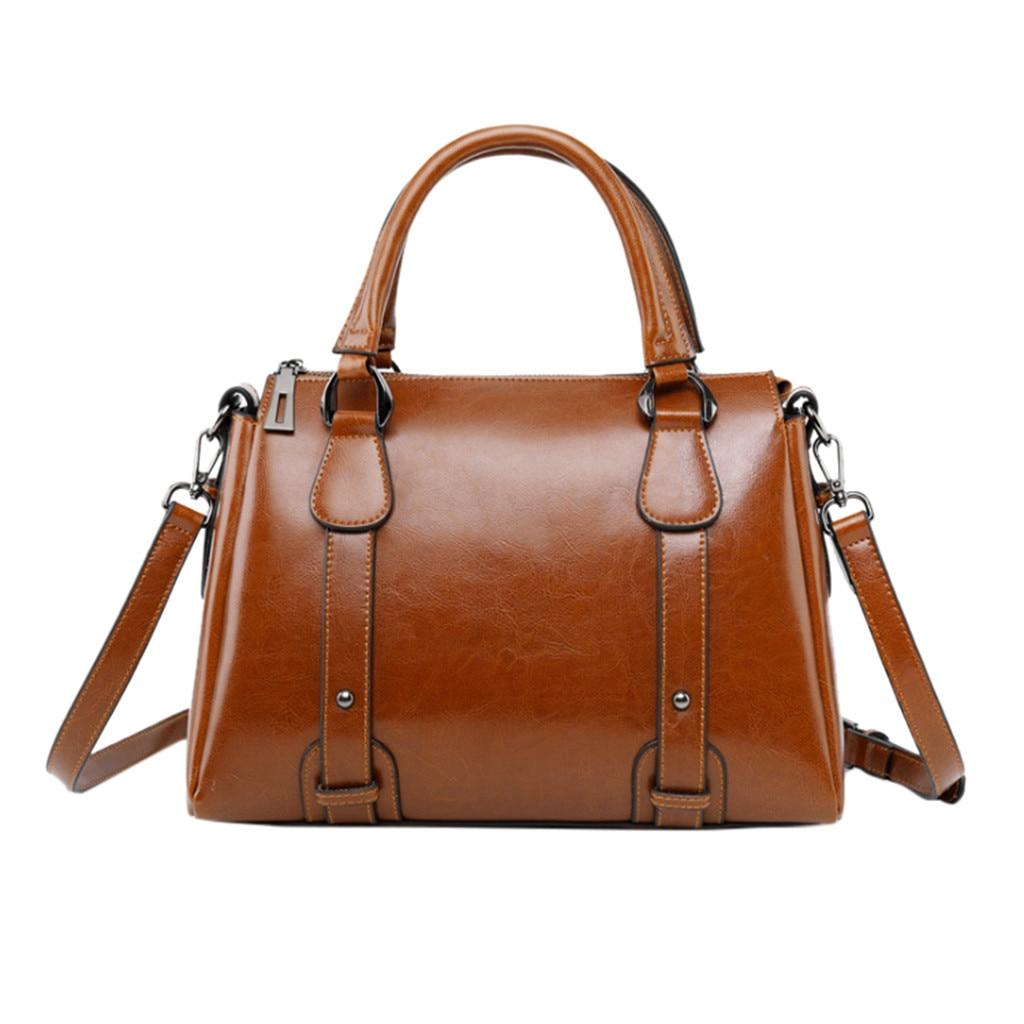 Fashion Women's Solid Color Zipper Shoulder Bag Messenger Bag Mobile Phone Bag Vintage Luxury Large Capacity Shoulder Bag