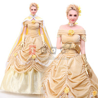 belle costume adult princess belle beauty and the beast costume cosplay halloween costumes for women dress custom