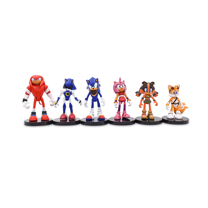 5Set lot 6Pcs Set hedgehog 9cm Game hedgehog Toys Action Figure Nendoroid PVC Anime hedgehog Toy